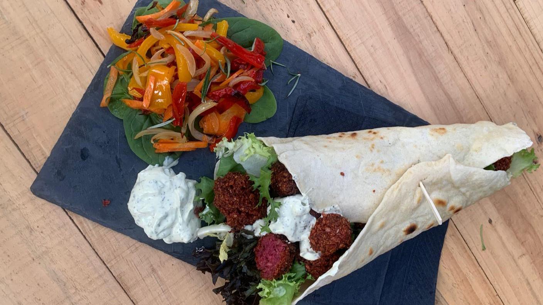 heerlijke sin carne bieten falafal
