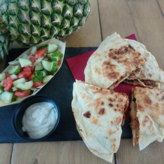 Vegan quesadillas sin carne